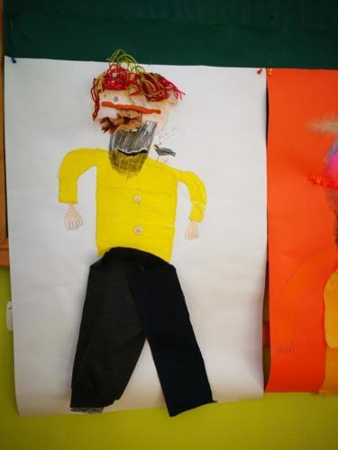 Wizerunek Pana Kleksa - praca grupowa.